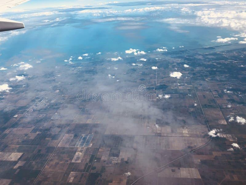 Vista aérea de florida imagens de stock royalty free