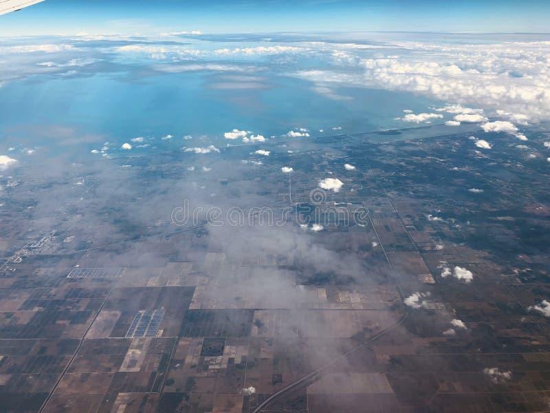 Vista aérea de florida fotografia de stock royalty free