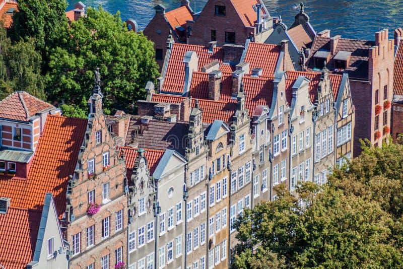 Vista aérea de Gdansk, Polônia Tomado da torre do Churc de St Mary fotos de stock royalty free
