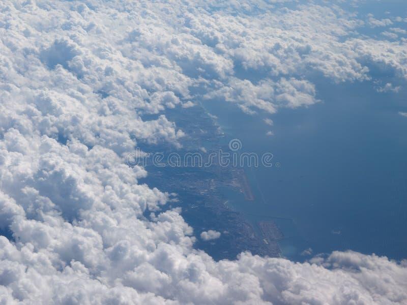 Vista aérea de Genoa foto de stock royalty free