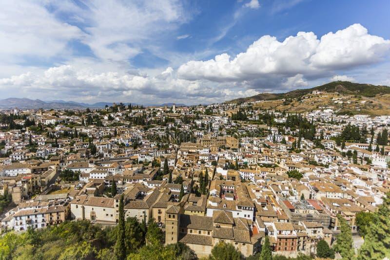 Vista aérea de Granada spain imagem de stock