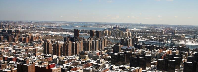 Vista aérea de Harlem del este imágenes de archivo libres de regalías