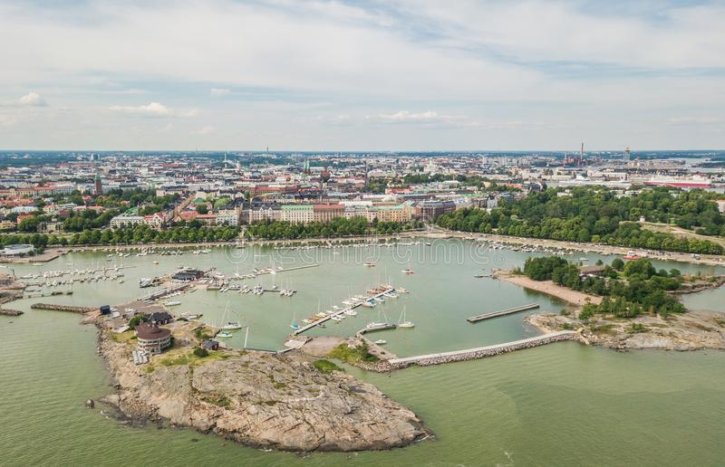 Vista aérea de Helsínquia foto de stock royalty free