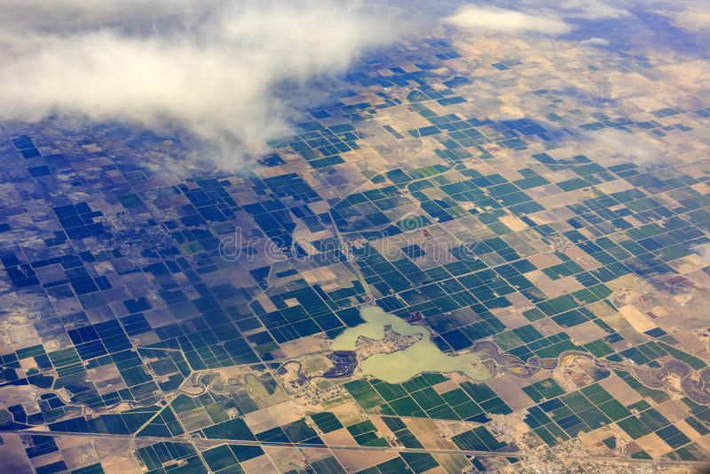 Vista aérea de Hinckley, desierto, oasis, delta, Sutherland imagen de archivo libre de regalías