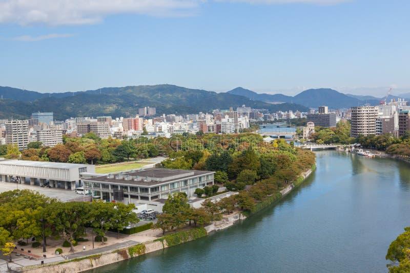 Vista aérea de Hiroshima foto de stock