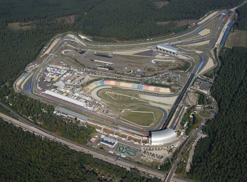 Vista aérea de Hockenheimring, Alemanha fotografia de stock royalty free