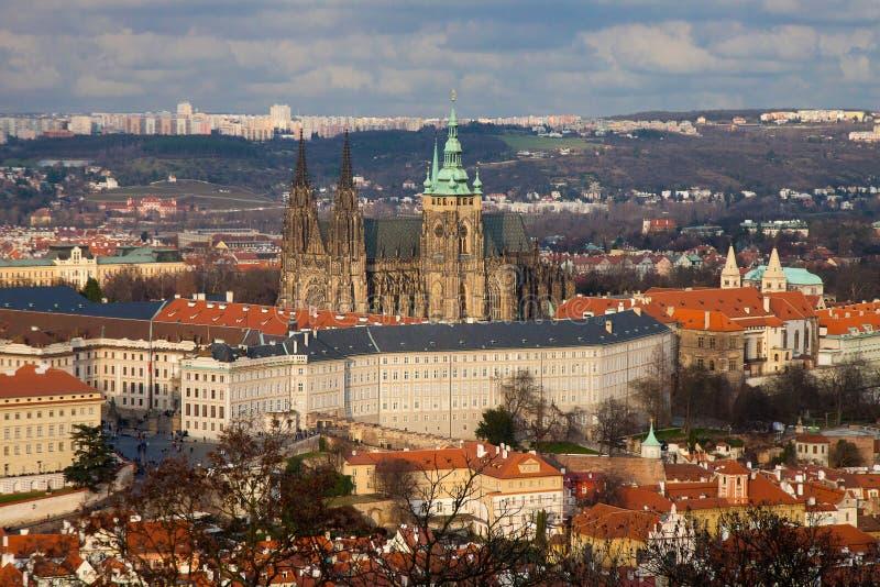 Vista aérea de Hradchany, Praga imagem de stock royalty free
