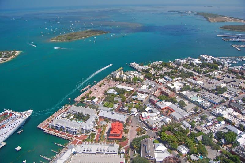 Vista aérea de Key West foto de stock
