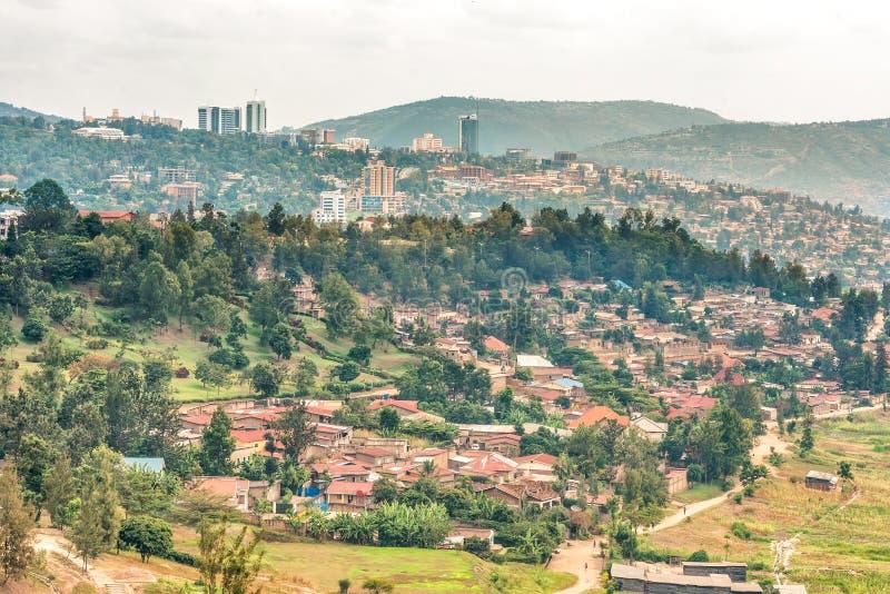 Vista aérea de Kigali de uma distância fotos de stock