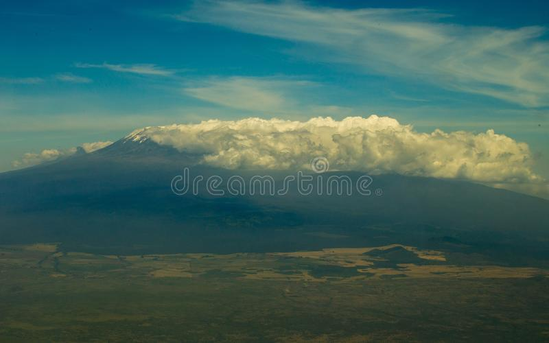 Vista aérea de Kilimanjaro fotografia de stock
