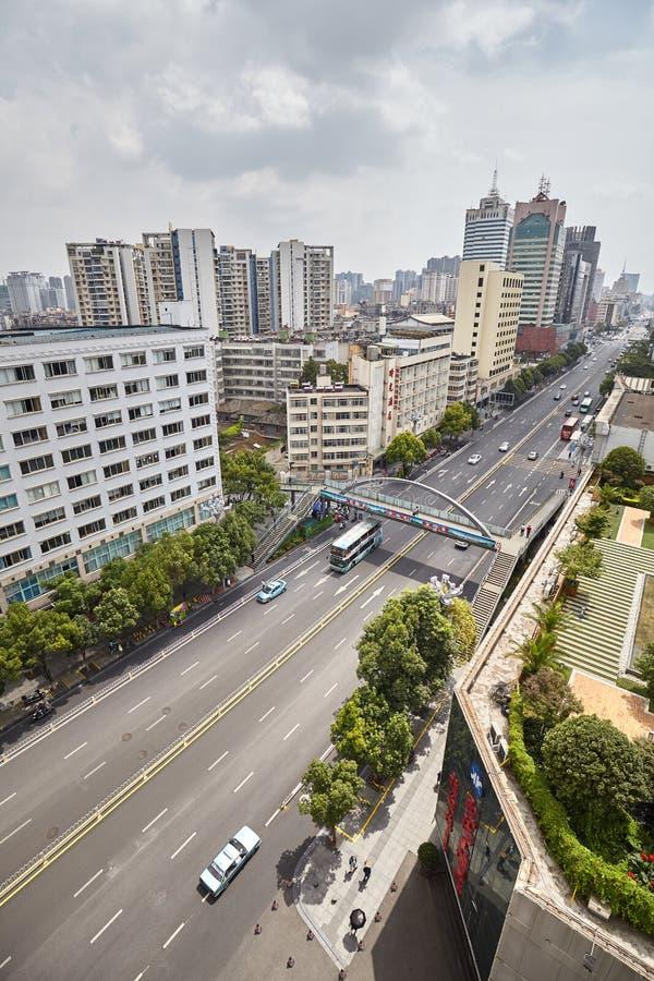 Vista aérea de Kunming céntrico imagenes de archivo
