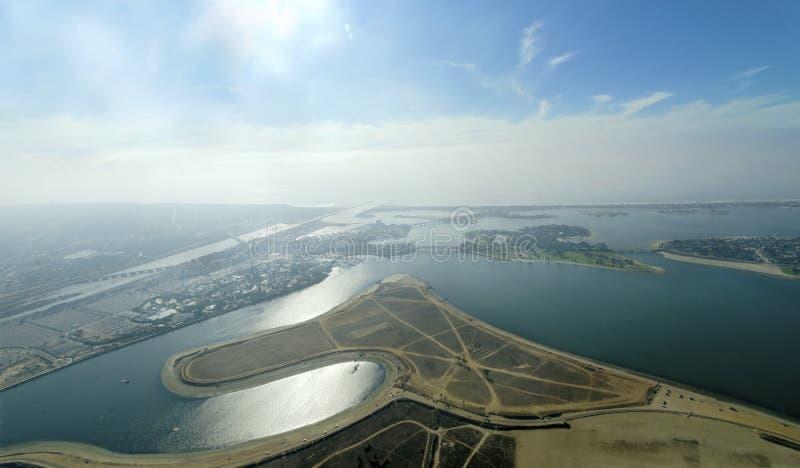 Vista aérea de la bahía de la misión, San Diego fotos de archivo