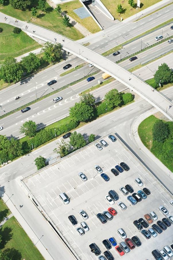 Vista aérea de la carretera fotos de archivo libres de regalías