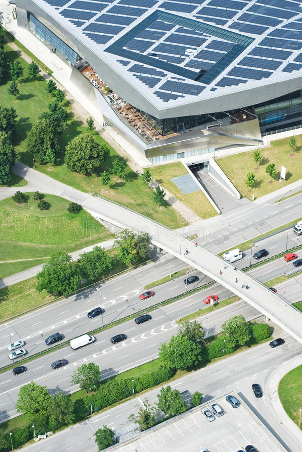 Vista aérea de la carretera imagen de archivo