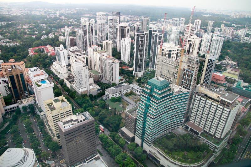 Vista aérea de la ciudad de Singapur imagenes de archivo