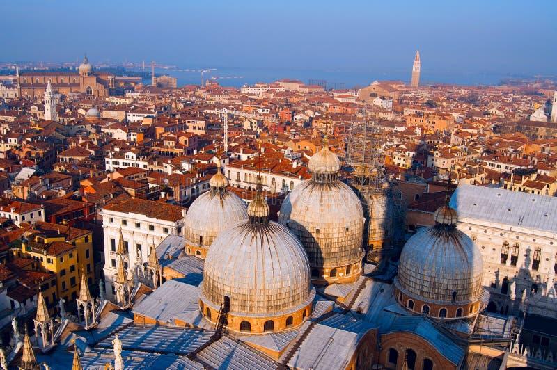 Vista aérea de la ciudad de Venecia fotos de archivo