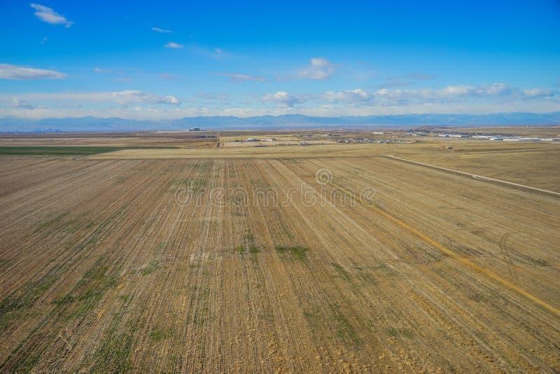 Vista aérea de la ciudad de Denver suburbana fotografía de archivo