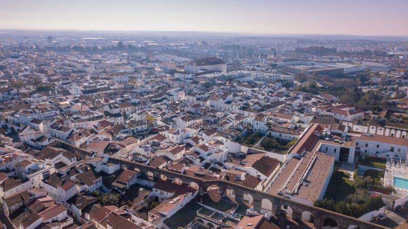 Vista aérea de la ciudad Evora Alentejo Portugal fotografía de archivo