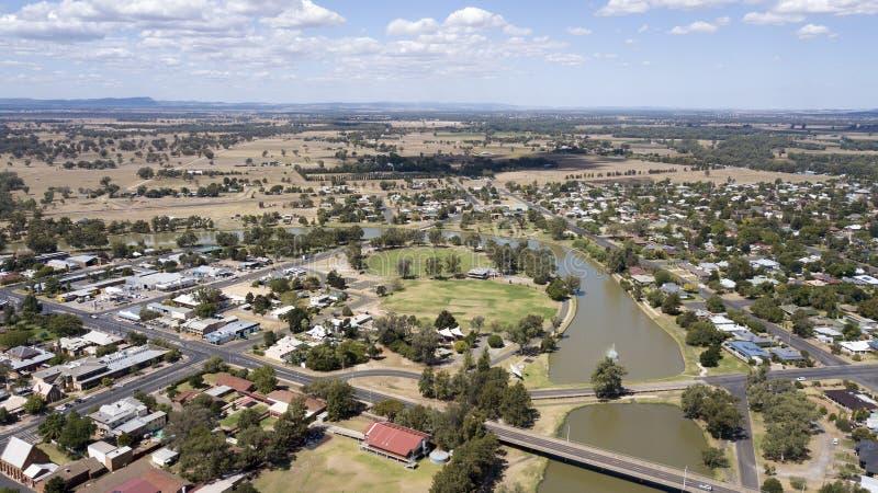 Vista aérea de la ciudad de Forbes imágenes de archivo libres de regalías