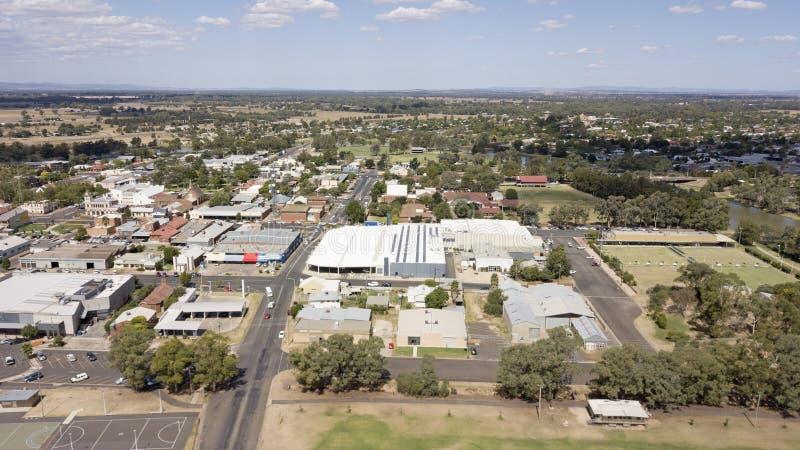 Vista aérea de la ciudad de Forbes imagenes de archivo