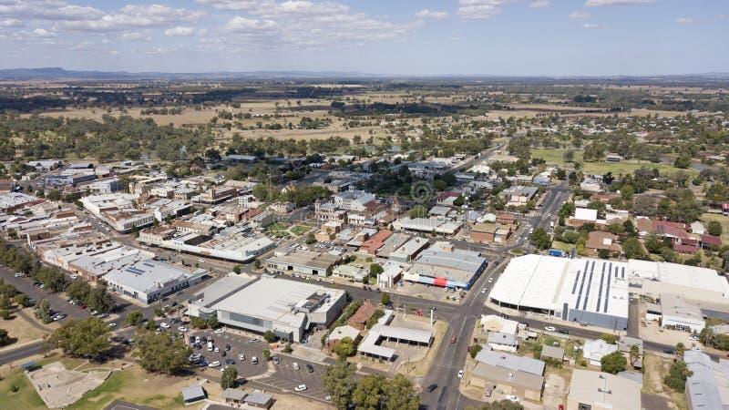 Vista aérea de la ciudad de Forbes fotografía de archivo