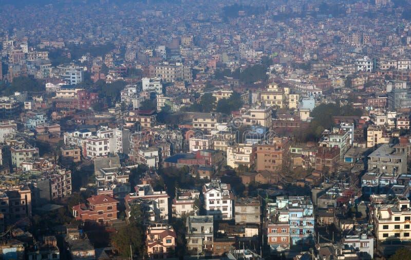 Vista aérea de la ciudad de Katmandu, Nepal fotos de archivo