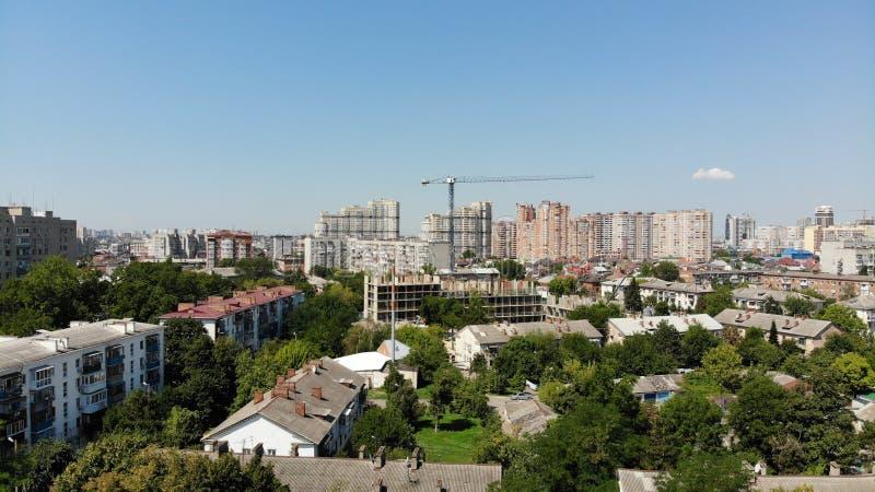 Vista aérea de la ciudad Krasnodar fotografía de archivo