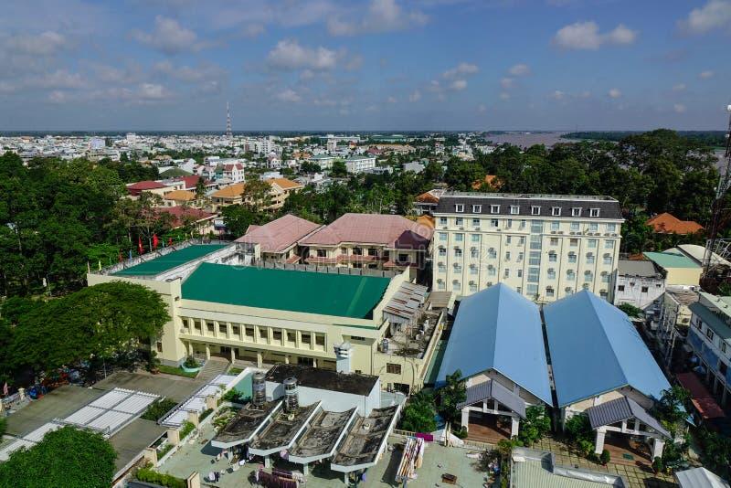 Vista aérea de la ciudad larga de Xuyen, Vietnam imagenes de archivo