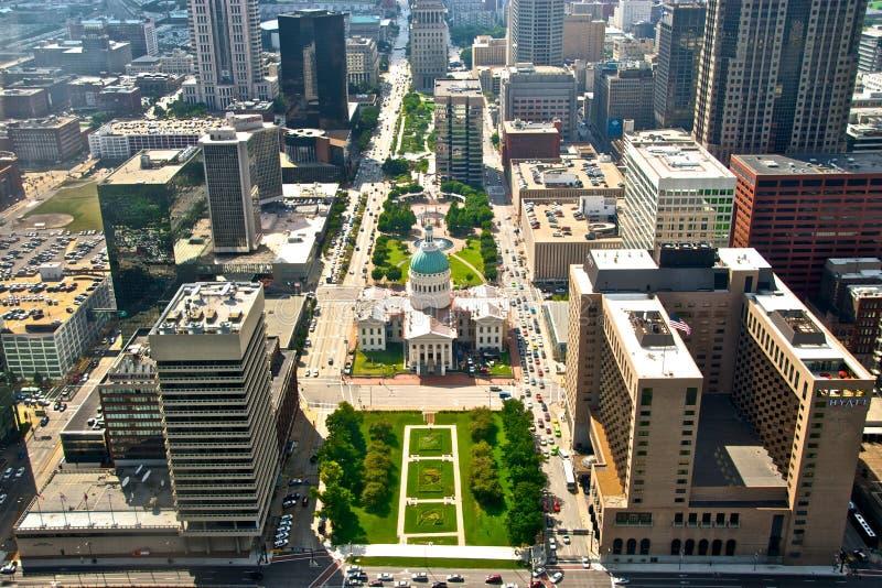 Vista aérea de la ciudad Scape de St. Louis imagen de archivo