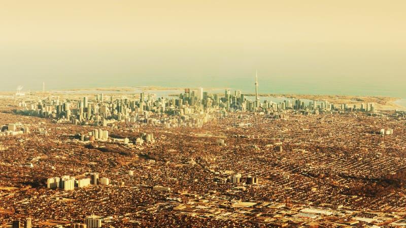 Vista aérea de la ciudad de Toronto fotografía de archivo libre de regalías
