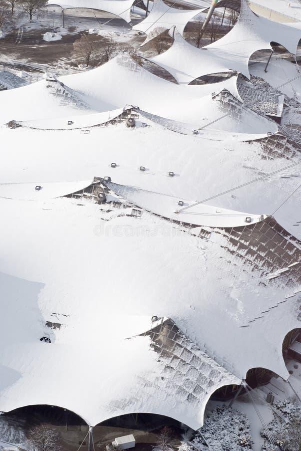Vista aérea de la configuración moderna fotografía de archivo
