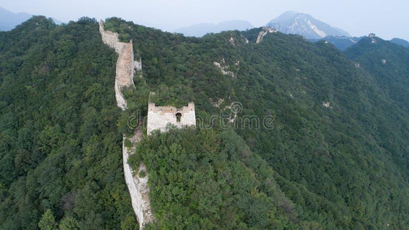 Vista aérea de la Gran Muralla fotos de archivo
