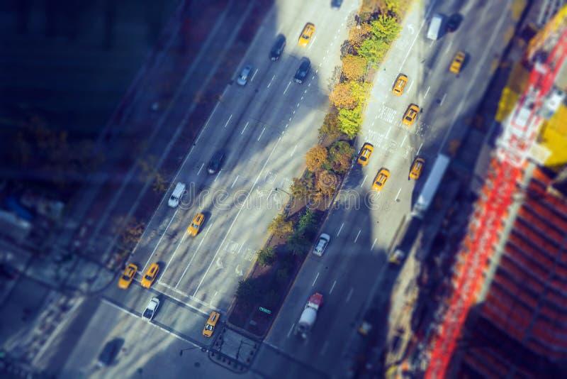 Vista aérea de la intersección céntrica fotos de archivo