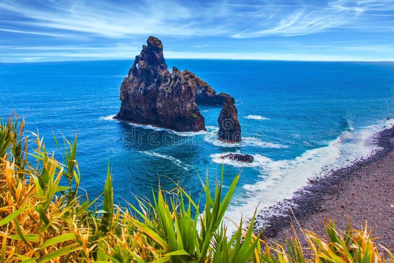 Vista aérea de la isla de Madeira imágenes de archivo libres de regalías