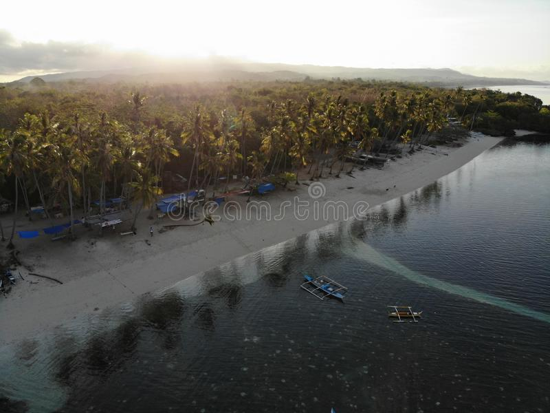 Vista aérea de la isla de Siquijor, las Filipinas imagen de archivo libre de regalías