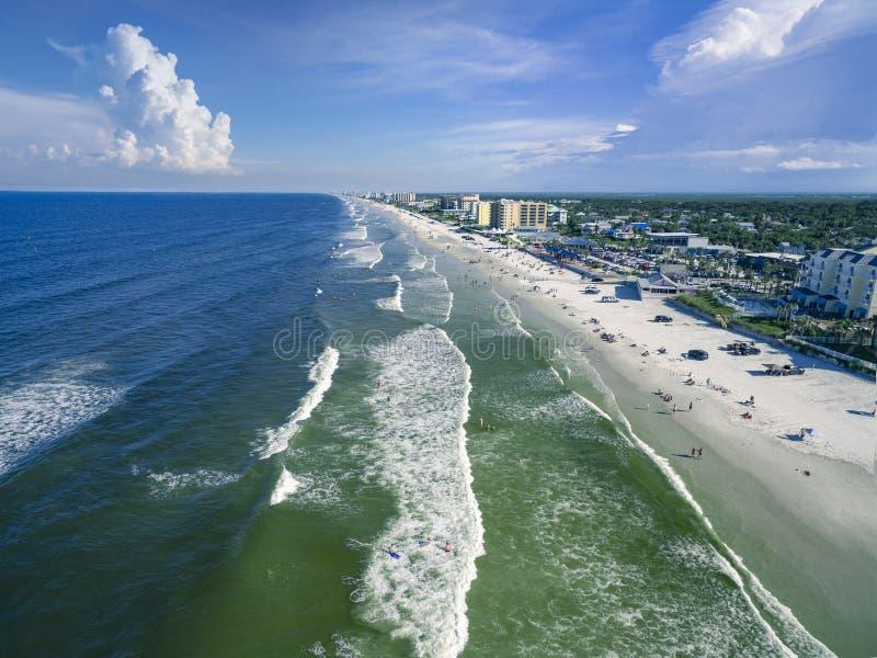 Vista aérea de la nueva playa de Smyrna imagen de archivo