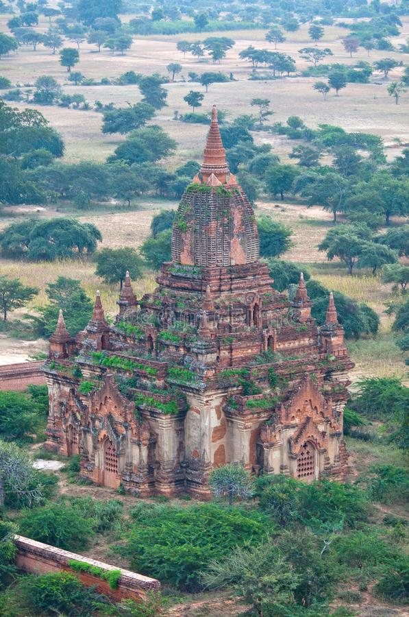 Vista aérea de la pagoda antigua en Bagan, Myanmar imagen de archivo