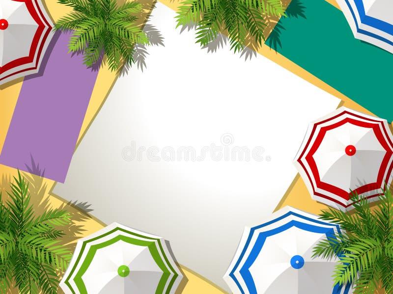 Vista aérea de la playa del verano stock de ilustración