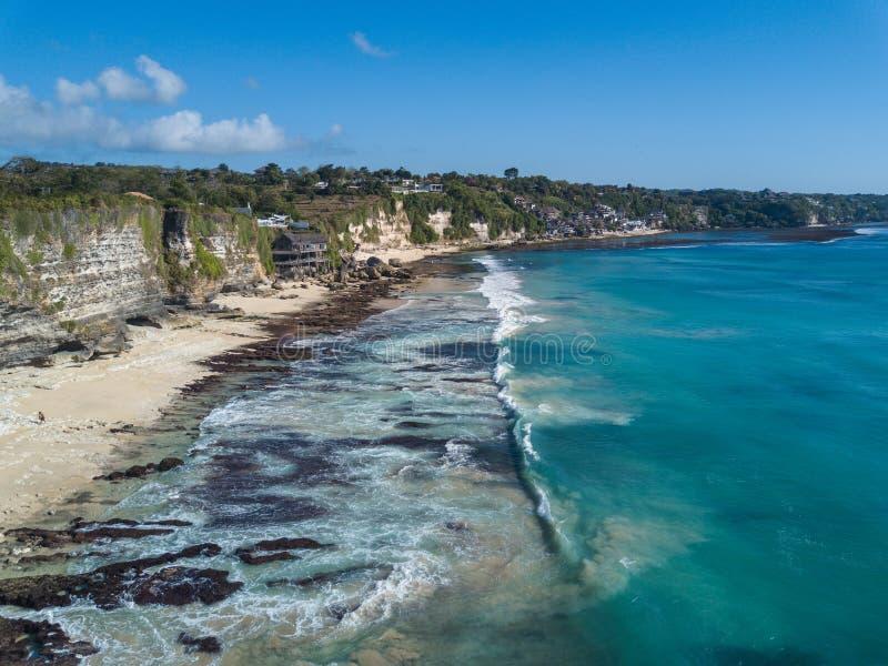 Vista aérea de la playa tropical imagenes de archivo