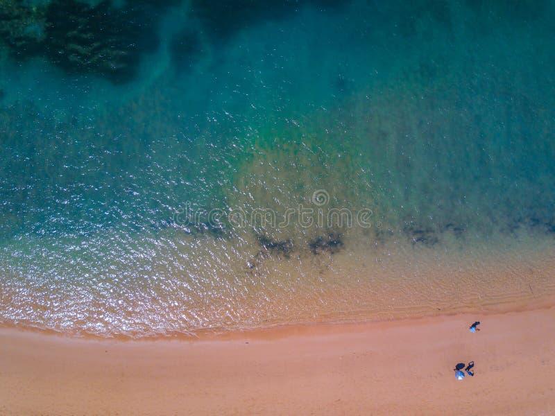 Vista aérea de la playa tropical fotos de archivo libres de regalías