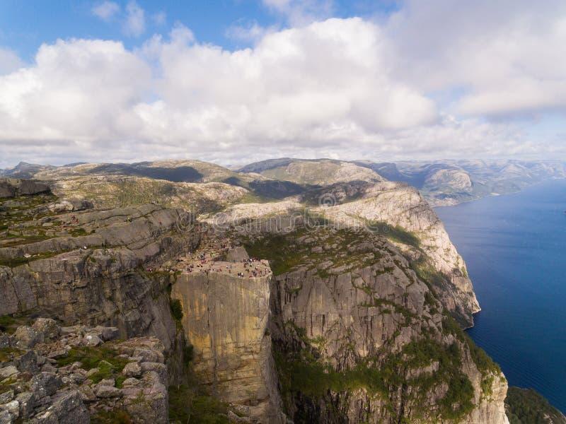 Vista aérea de la roca del púlpito imagen de archivo libre de regalías
