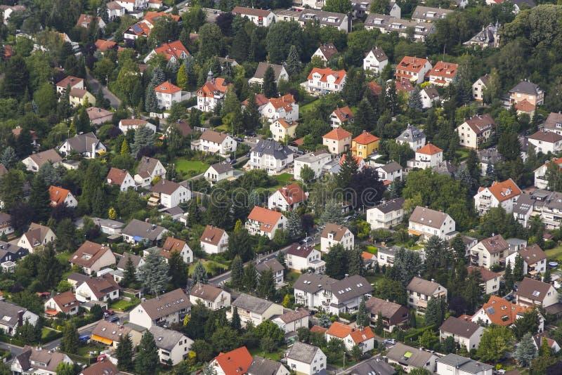 Vista aérea de la sala de estar en Schwalbach fotos de archivo libres de regalías