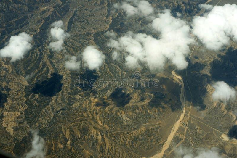 Vista aérea de la tierra fotos de archivo