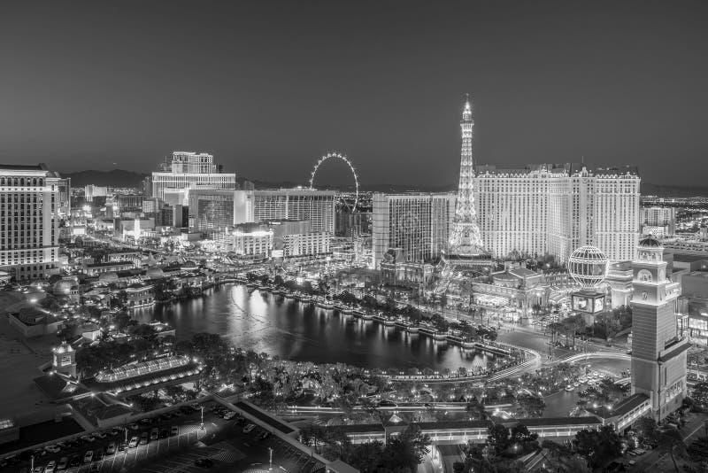 Vista aérea de la tira de Las Vegas en Nevada imágenes de archivo libres de regalías