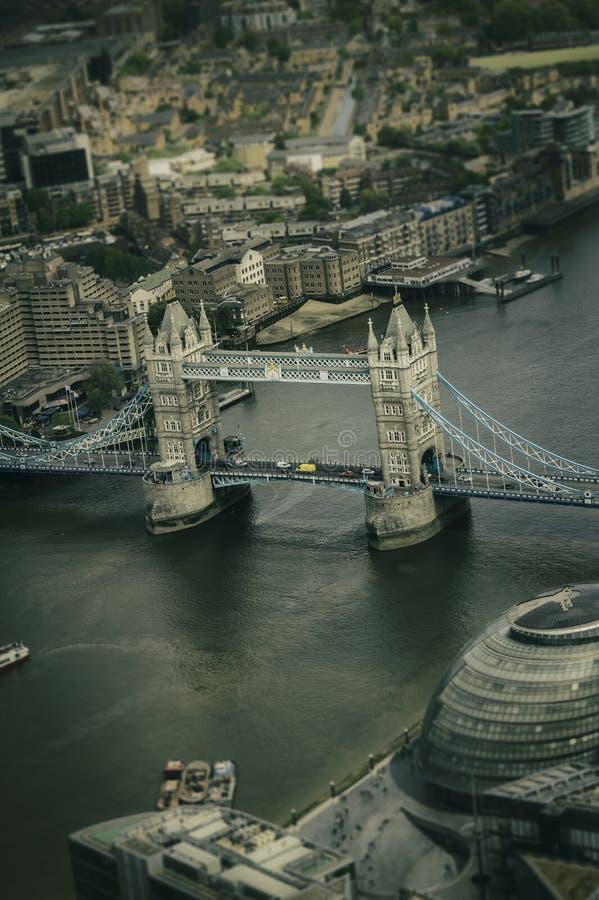 Vista aérea de la torre de Londres histórica fotografía de archivo libre de regalías