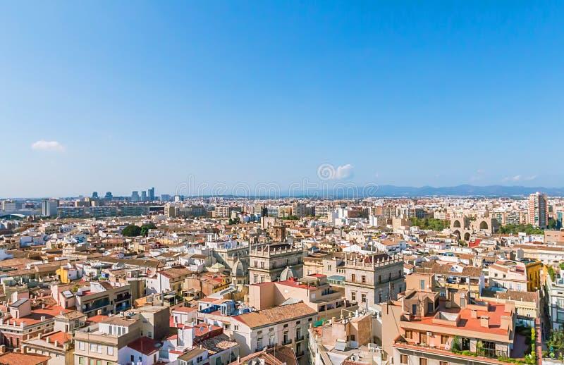 Vista aérea de la Valencia fotografía de archivo