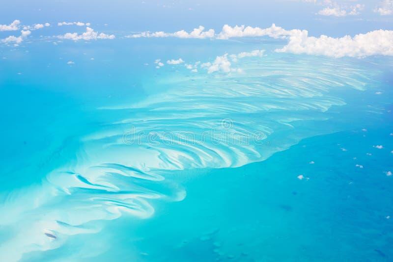 Vista aérea de las Bahamas fotografía de archivo libre de regalías