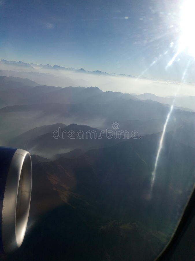 Vista aérea de las colinas de Cachemira, sorprendiendo fotos de archivo libres de regalías