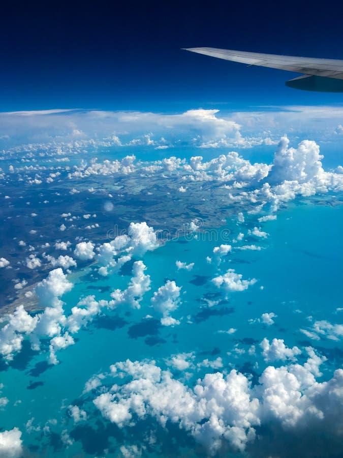 Vista aérea de las islas de Bahamas fotos de archivo libres de regalías