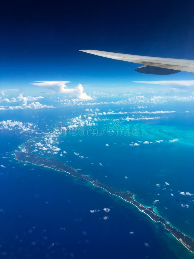Vista aérea de las islas de Bahamas foto de archivo libre de regalías